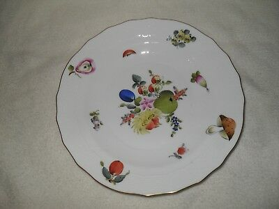 "Herend Fruit & Flowers Plate 8 1/8"" 1520 BFR (1)"