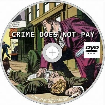 Crime Does Not Pay Issues 22 - 147 On DVD Rom