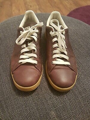 competitive price 8a365 140fc MEN'S ADIDAS STAN Smith Brown Leather Trainers UK size 10