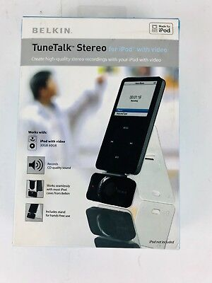 Belkin TuneTalk Stereo for iPod with Video Voice Recorder Microphone
