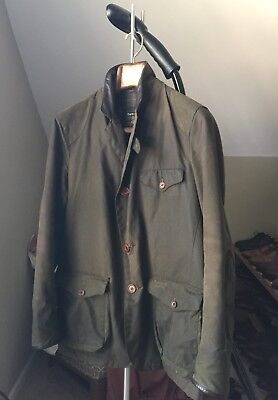 Barbour Commander Dept B Beacon Jacket in Olive - Size Medium (Skyfall 007) Rare