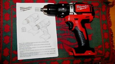 Milwaukee 18V M18 Compact (All Metal Gear) Brush-less Hammer drill driver 2702
