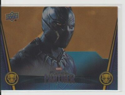2018 Upper Deck Marvel Black Panther Acetate Gold parallel #8 Seeing Nakia #4/10