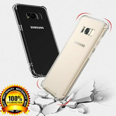 Silicone Shockproof Protective Clear Case Cove For Samsung Galaxy S7 S8 S9 S8+