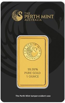 Perth Mint Gold 1oz Bullion Bar (Minted) FULLY SEALED - ANTI TAMPER CASE