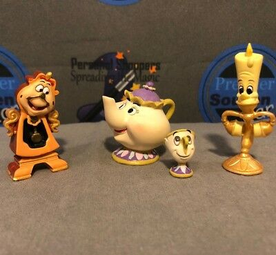 Disney Showcase Beauty and the Beast Enchanted Objects Set Figures Figurines