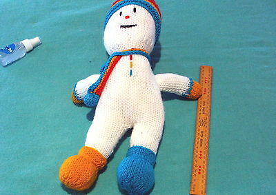 GIFTS IDEAS - Knitted Soft Toys. Snowman. Kids Toys. Winter. Cuddly Doll.
