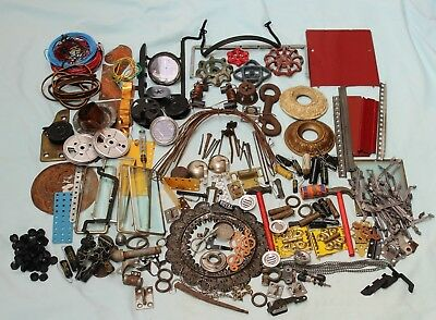 Large Lot Of Vintage Metal Steampunk Art Assemblage Repurpose Salvage Parts 12Lb