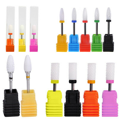 Ceramic Nail Drill Bits Gel-Removal Polishing Tool Pedicure Manicure Rotary Burr