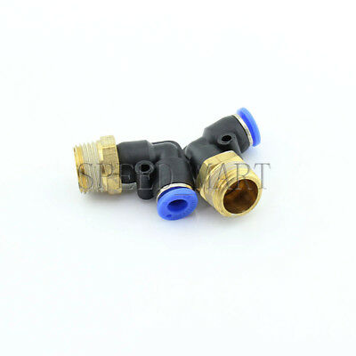 3/8 BSPT Male Thread 90 Degree Elbow Pipe Quick Fittings Pneumatic 6mm PL6-03