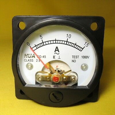 Current Panel Meter 15 Amp Analog Direct Display Inverter AC 15A Ammeter SO45 AJ