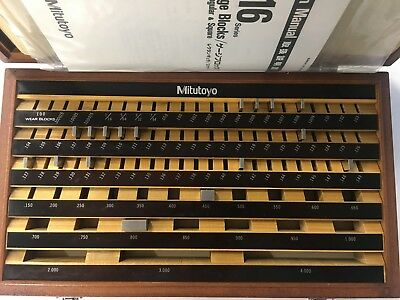 Mitutoyo 516-901 CASE for 81pc Rect. Steel Gage Block Set, with 17 Misc. Blocks