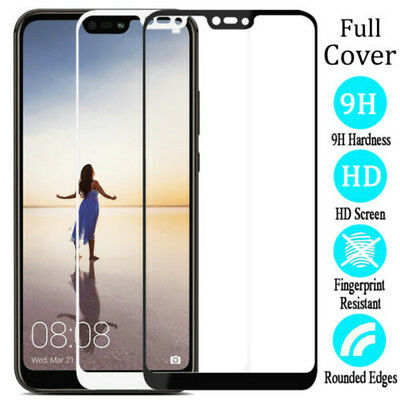 Full Cover Tempered Glass Screen Protector For Huawei P20 Pro / P20 lite / P20