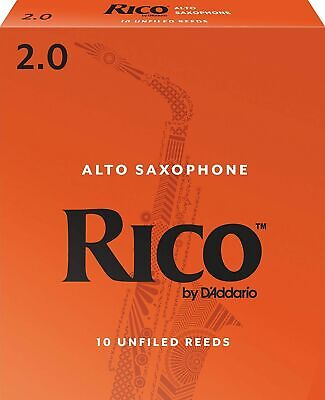 Rico Alto Saxophone Reeds 10 Reeds Strength 2 10-pack * RJA1020 * NEW