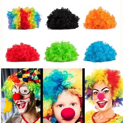 70 80s CURLY AFRO WIG FANCY MULTI COLOUR HAIR PARTY CLOWN FUNKY DISCO KID CHILDS