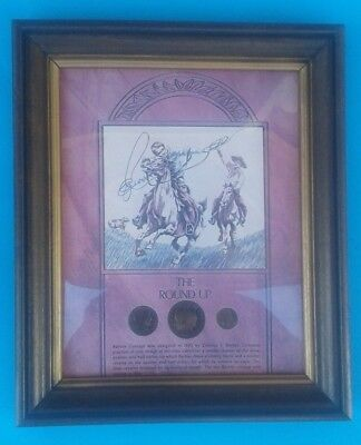 The Round Up - Barber Silver Coin Collection - Half Dollar-Quarter-Dime Framed