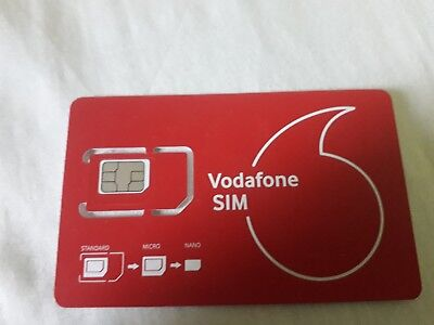 Vodafone Payg Top Up >> Vodafone Pay As You Go Payg Sim Card With 10 Top Up Credit