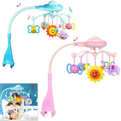 Baby Musical Crib Bed Cot Mobile Stars Dreams Light Flash Nusery Lullaby Toys UK