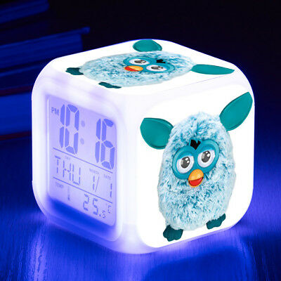 Furby Digital Alarm Clock LED 7 Color Change Decor Night light Cosplay