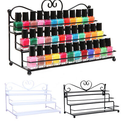 1*Essential 3 Tier Metal Heart Nail Polish Display Wall Rack Makeup Stand Holder