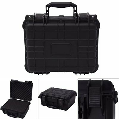Black Protective Equipment Hard Carry Case Plastic Box with 3 Removable Foam UK