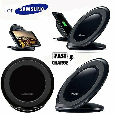 Fast Qi Wireless Charger Stand Dock Pad For Samsung Galaxy S7 S8 S9 Plus Note 8