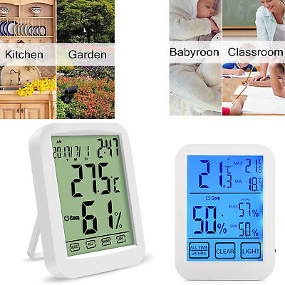 Digital Hygrometer Thermometer Indoor Temperature Humidity Monitor Meter Display