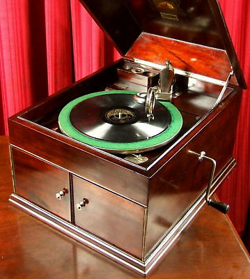 STUNNING HMV Wind Up Gramophone in XLNT Working Cond Antique Record Player MELB