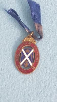 Circa 1920 Enamelled and Gilt Scotch College Badge M. Lober 2491