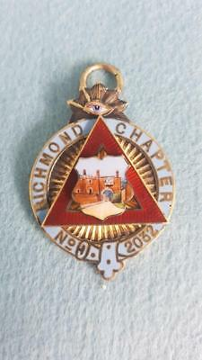 Hallmarked Sterling Silver Collectable Masonic Medal: Richmond Chapter