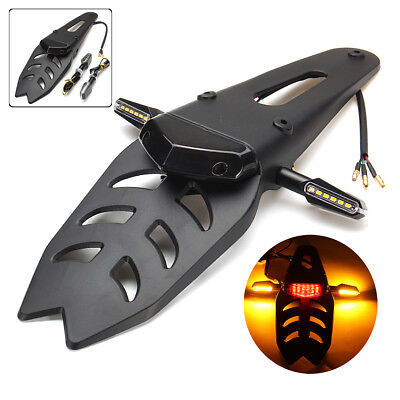 Universal Motorcycle Enduro LED Rear Fender Brake Tail Running Light Turn Signal