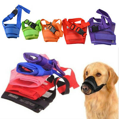 S-XXL Dog Muzzle Anti Stop Bite Barking Chewing Mesh Mask Training Small Large