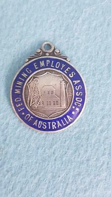 "Interesting Early Australian Trade Union Fob Medal ""Fed Mining Employes Assoc"""