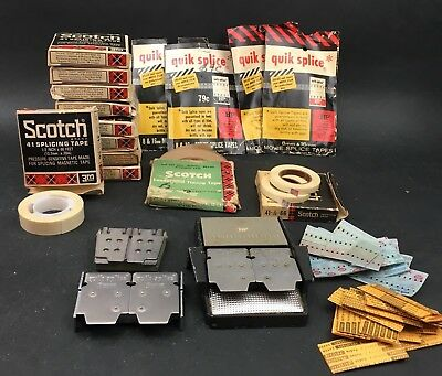 Lot of HP 8mm Splice Machines Scotch 41 Splicing Tape and More