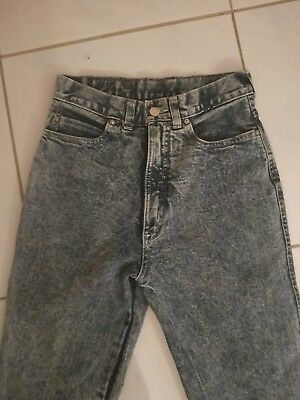 vintage stone wash high waisted boho festival denim ladies 80's jeans