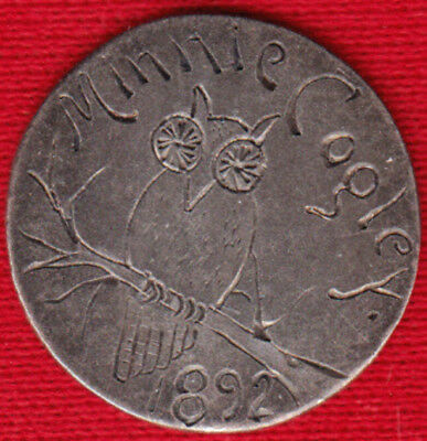 "1892 ""Owl/Minnie Cogley"" Love Token"