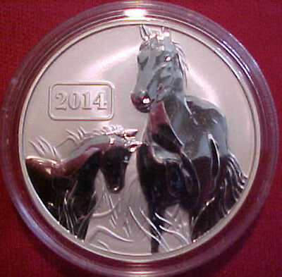 """Tokelau 2014 """"Year of the Horse"""" $5 Reverse Proof"""