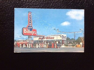 RARE GASOLINE/OIL Advertising Postcard~ Billups Petroleum Shreveport, LA