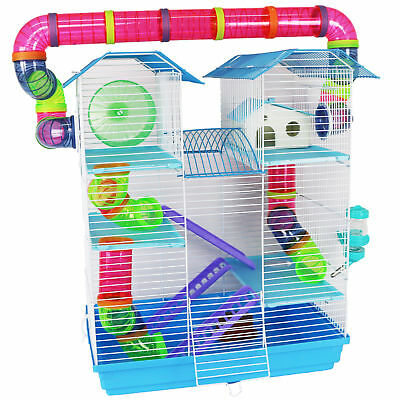 Pet Ting Jasmine Hamster Cage Large with Running Tubes Gerbil Syrian Dwarf