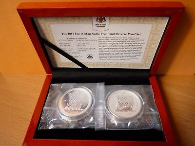 Isle of Man 2017 Noble 2 mal 1 Oz Silber Proof / Reverse Proof Set