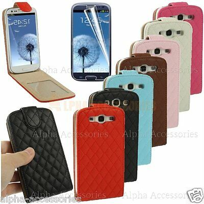 Luxury Leather Flip Case Cover Magnetic Closure For Samsung Galaxy S3 SIII i9300