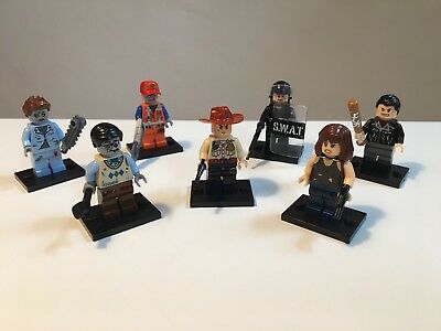 The Walking Dead Minifiguren - 4 x TWD und 3 x Zombies - Set 1 Lego kompatibel