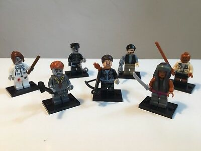 The Walking Dead Minifiguren - 4 x TWD und 3 x Zombies - Set 2 Lego kompatibel