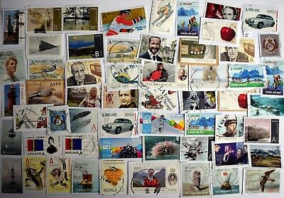 A superb selection of modern kiloware stamps from Norway (J)