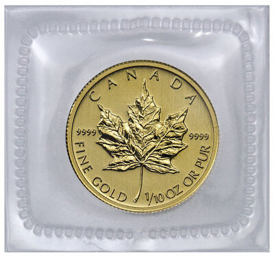 Random Date Canada 1/10 Troy oz .9999 Fine Gold Maple Leaf $5 Coin SKU31549