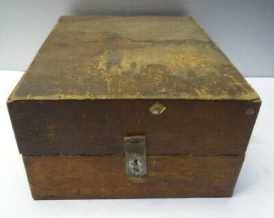 Vintage Used Old Wood Wooden Metal Latch Storage Box Carrying Case Container