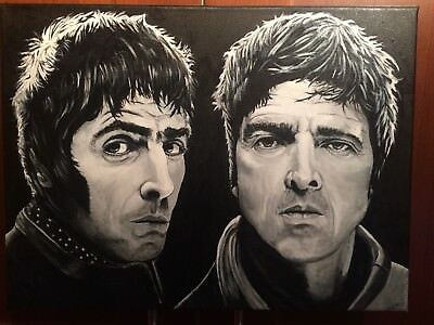 Oasis Noel & Liam Gallagher—Original Hand Painted Canvas!!!!!!