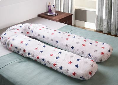U Shape Pregnancy Maternity Pillow  Body Pillow – Blue And Red Stars