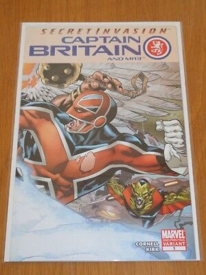 Captain Britain And Mi13 #1 Marvel Comics 2Nd Print July 2008 Nm (9.4)