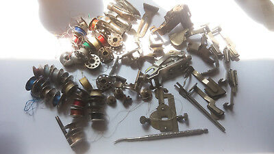 large mixed job lot of singer 28k / 27k sewing machine accessories + bobbins